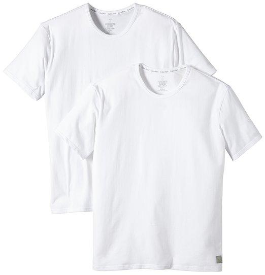 Calvin Klein Underwear CK ONE - Cotton Stretch 2 Pack Crew U8509A Herren Unterwäsche_Unterhemden, Gr. 5 M, Weiß (100)